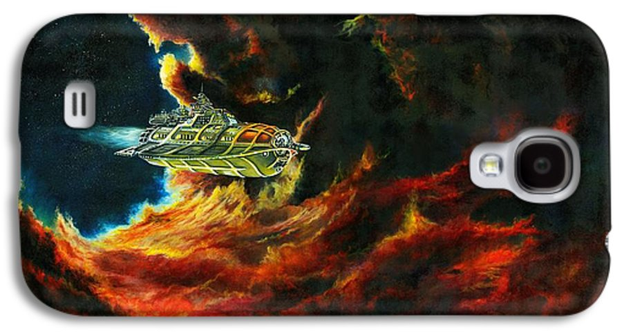Devil Galaxy S4 Case featuring the painting The Devil's Lair by Murphy Elliott