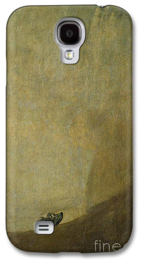 The Dog Galaxy S4 Case featuring the painting The Dog by Goya