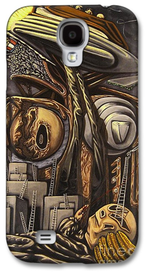 Surreal Galaxy S4 Case featuring the painting The Dow Itcher by Mack Galixtar