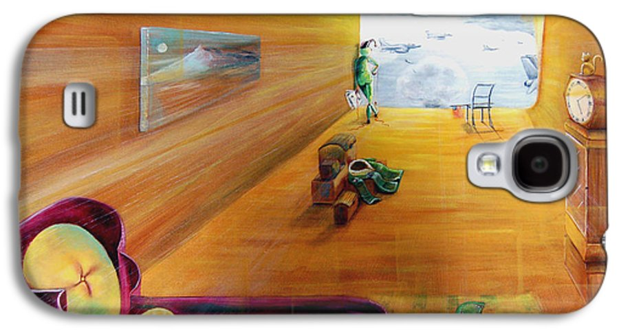 Fantasy Galaxy S4 Case featuring the painting The End Of War by Blima Efraim