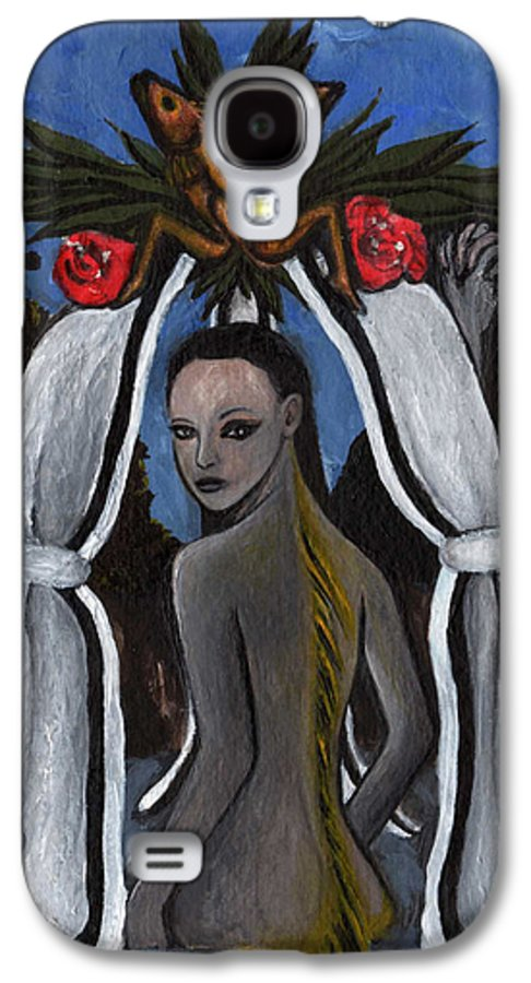 Mermaid Galaxy S4 Case featuring the painting The Fable Of The Fish by Ayka Yasis