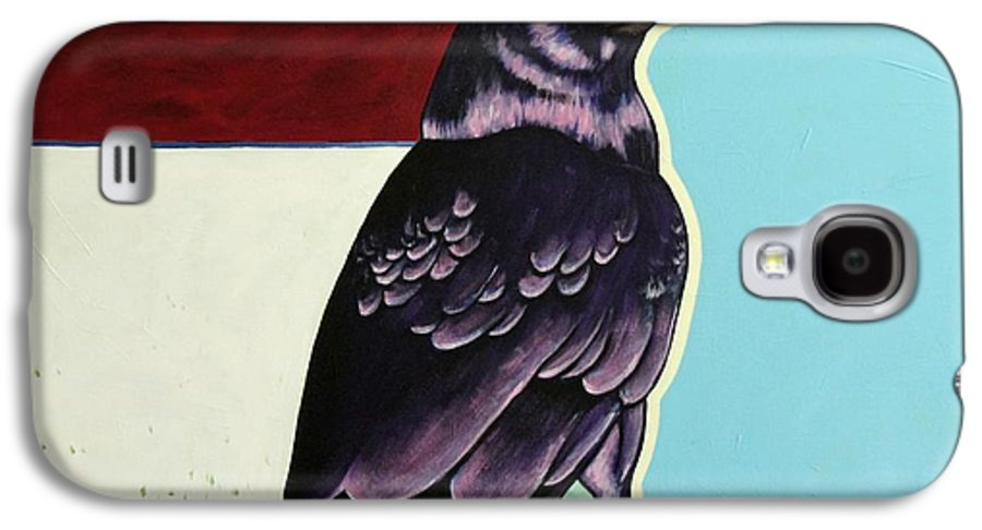 Wildlife Galaxy S4 Case featuring the painting The Gossip - Raven by Joe Triano