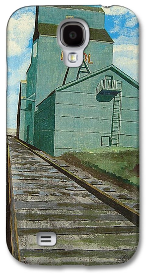 Elevator Galaxy S4 Case featuring the painting The Grain Elevator by Anthony Dunphy