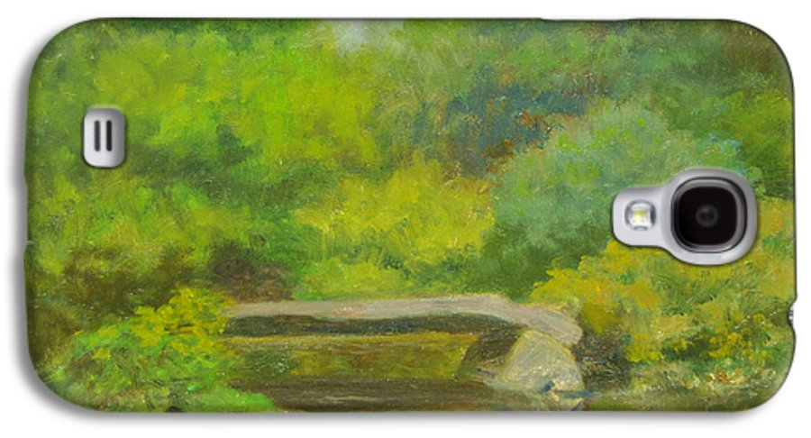 Landscape Galaxy S4 Case featuring the painting The Greens Of Summer by Phyllis Tarlow
