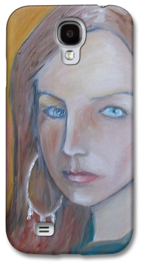 Portraiture Galaxy S4 Case featuring the painting The H. Study by Jasko Caus