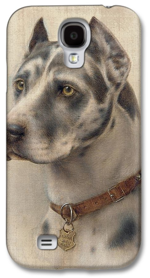 Head Galaxy S4 Case featuring the painting The Head Of A Doberman by Wilhelm Schwar