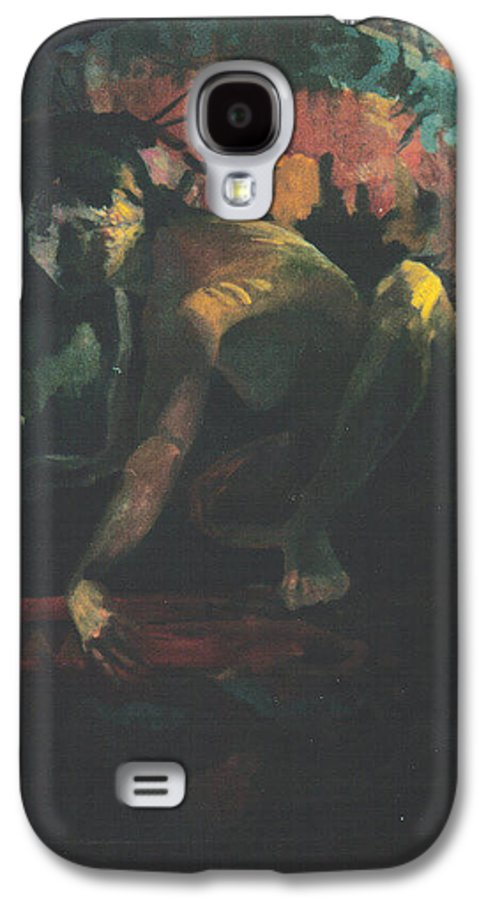 Figure Galaxy S4 Case featuring the painting The Hot Tub by John L Campbell