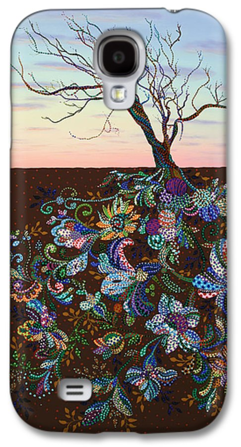 Tree Galaxy S4 Case featuring the painting The Journey by James W Johnson