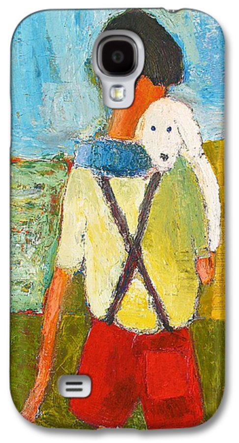 Abstract Galaxy S4 Case featuring the painting The Little Puppy by Habib Ayat