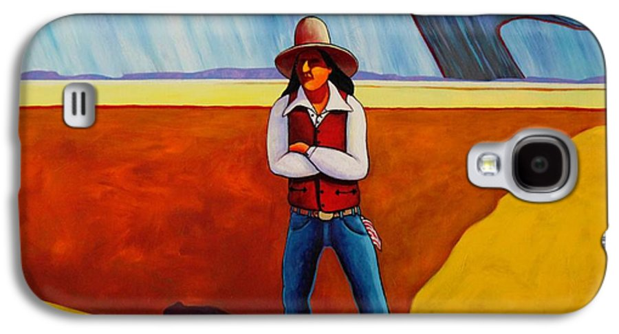 Native American Galaxy S4 Case featuring the painting The Logic Of Solitude by Joe Triano