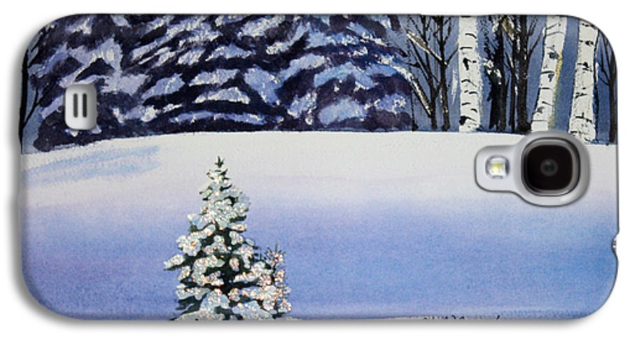 Christmas Galaxy S4 Case featuring the painting The Lone Christmas Tree by Patricia Novack