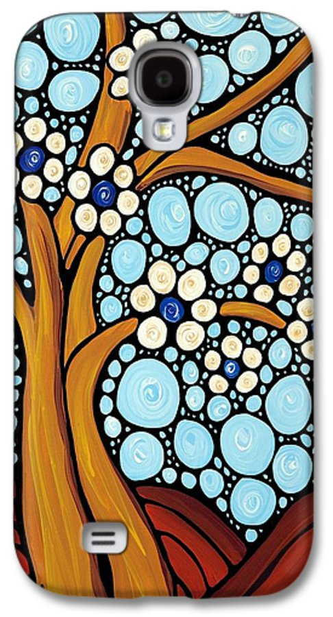 Flower Galaxy S4 Case featuring the painting The Loving Tree by Sharon Cummings