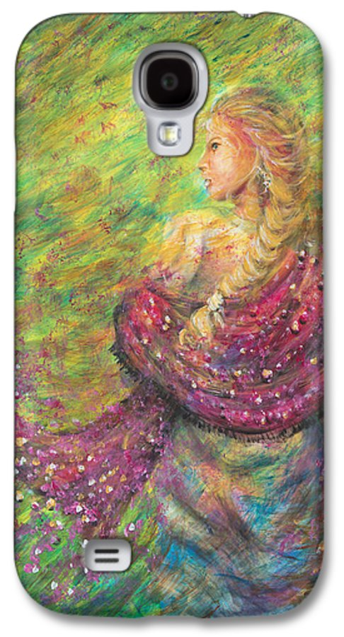 Lady Galaxy S4 Case featuring the painting The Magdelene by Nik Helbig