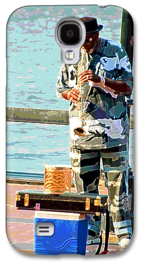 Soprano Saxophone Galaxy S4 Case featuring the photograph The Music Man by Suzanne Gaff