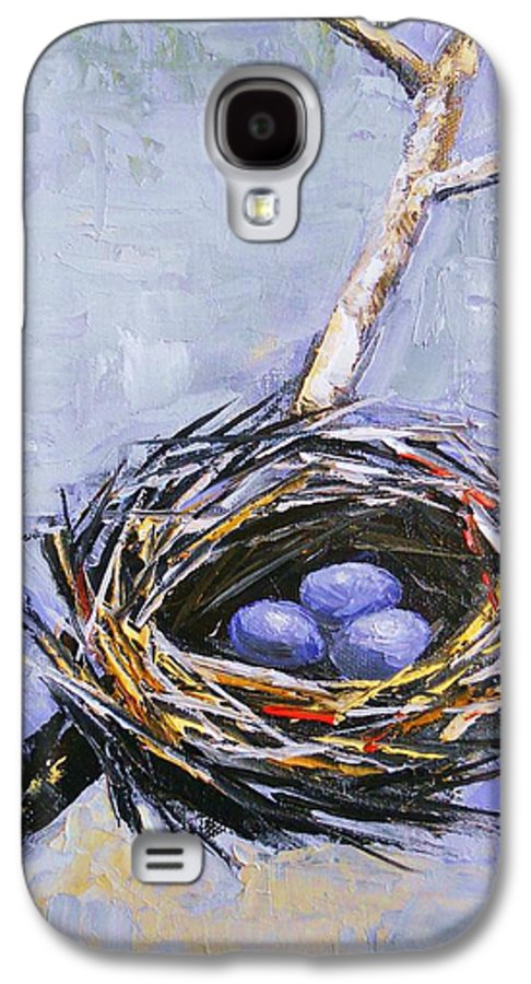 Birds Galaxy S4 Case featuring the painting The Nest by Brandi Hickman