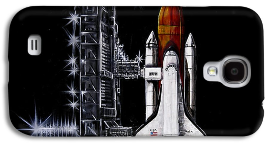 Shuttle Galaxy S4 Case featuring the painting The Night Before by Murphy Elliott