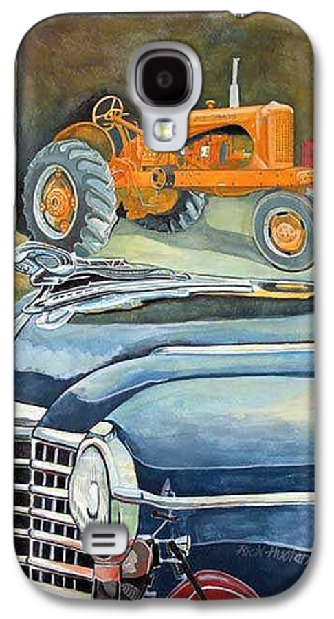 Rick Huotari Galaxy S4 Case featuring the painting The Old Farm by Rick Huotari