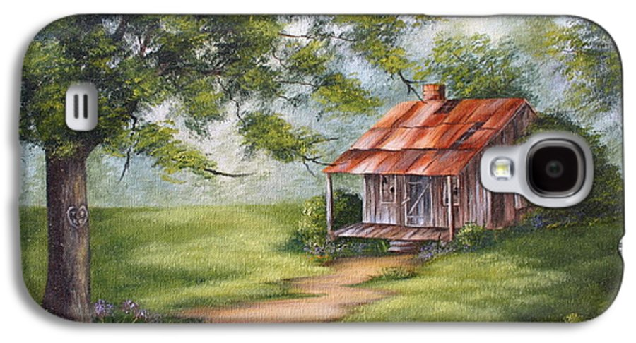 Oil Galaxy S4 Case featuring the painting The Old Homestead by Ruth Bares