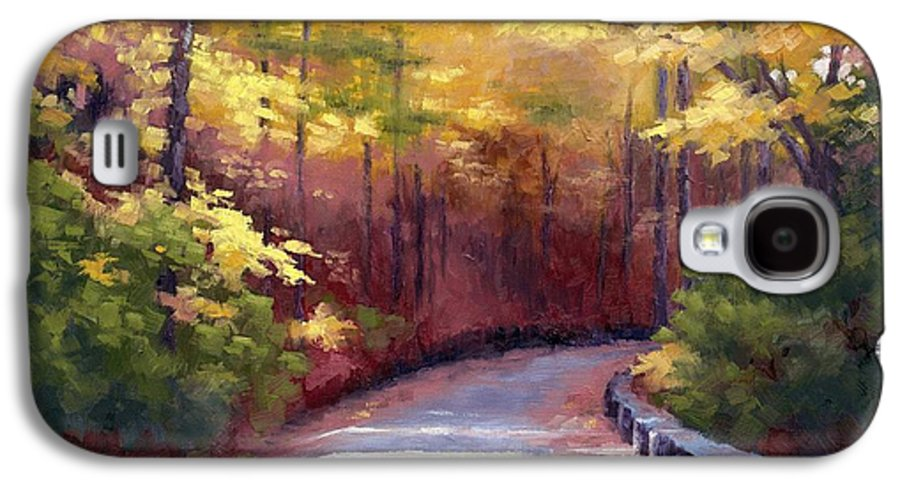 Autumn Paintings Galaxy S4 Case featuring the painting The Old Roadway In Autumn II by Janet King