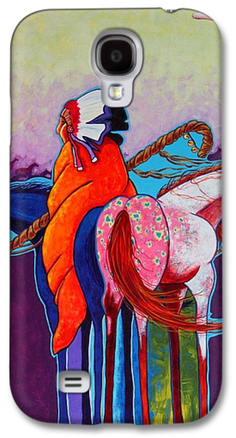 Native American Galaxy S4 Case featuring the painting The Peacemakers Gift by Joe Triano