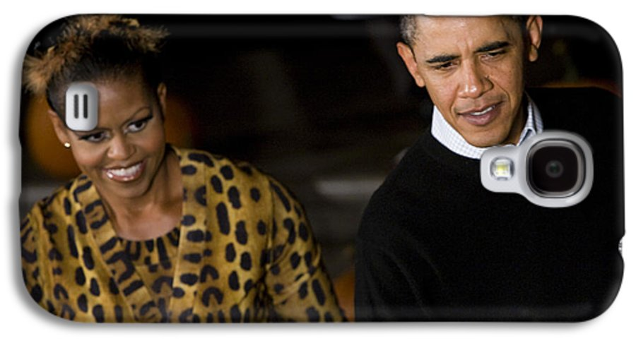 Barack Obama Galaxy S4 Case featuring the photograph The President And First Lady by JP Tripp