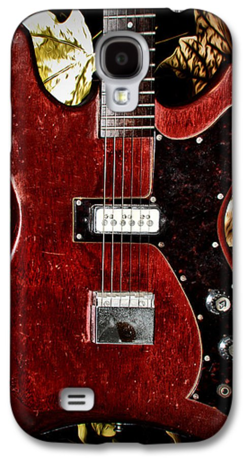 Red Galaxy S4 Case featuring the photograph The Red Guitar Blues by Bill Cannon