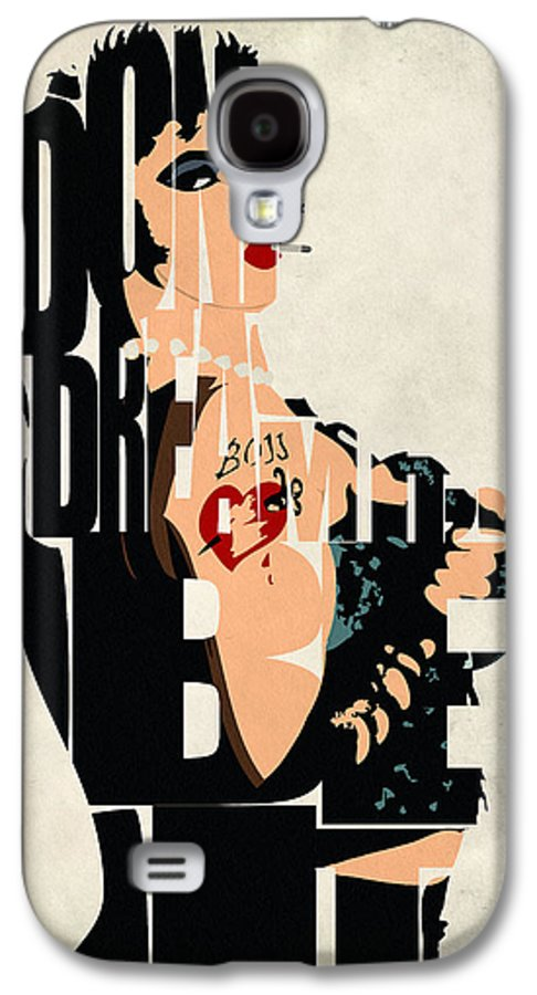 Dr. Frank-n-furter Galaxy S4 Case featuring the painting The Rocky Horror Picture Show - Dr. Frank-n-furter by Inspirowl Design