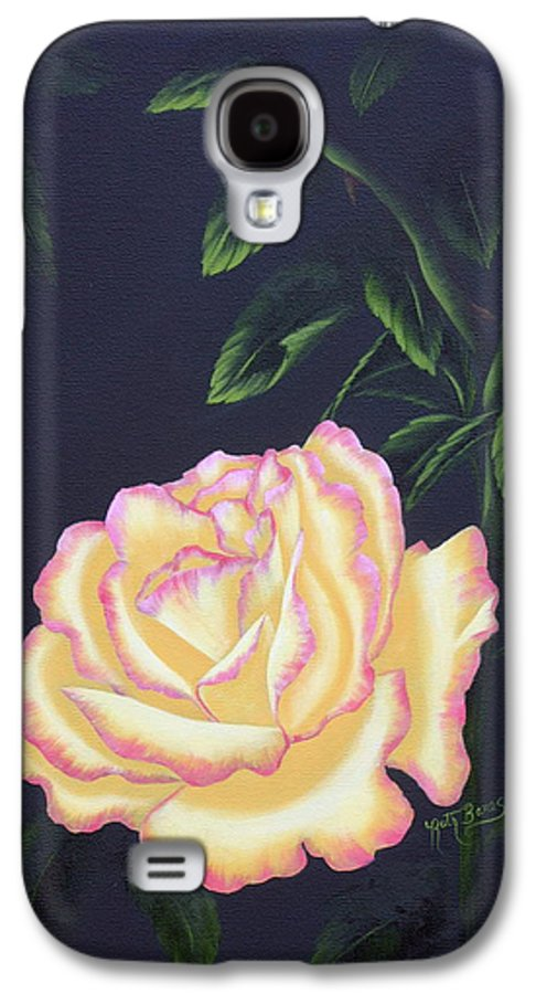 Rose Galaxy S4 Case featuring the painting The Rose by Ruth Bares