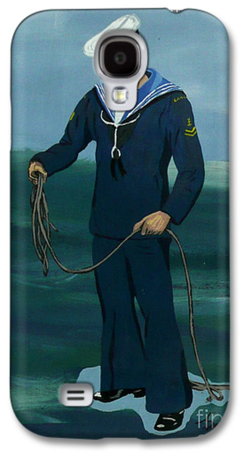 Sailor Galaxy S4 Case featuring the painting The Sailor by Anthony Dunphy