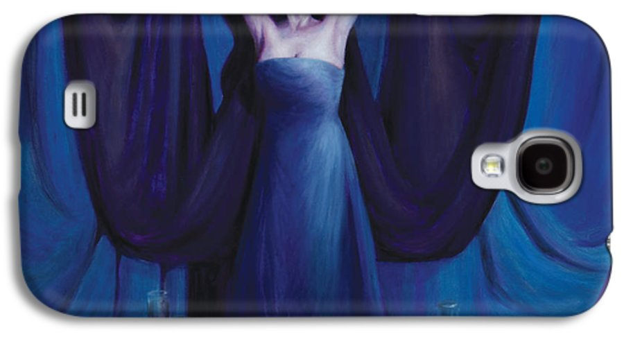 Shelley Irish Galaxy S4 Case featuring the painting The Seer by Shelley Irish
