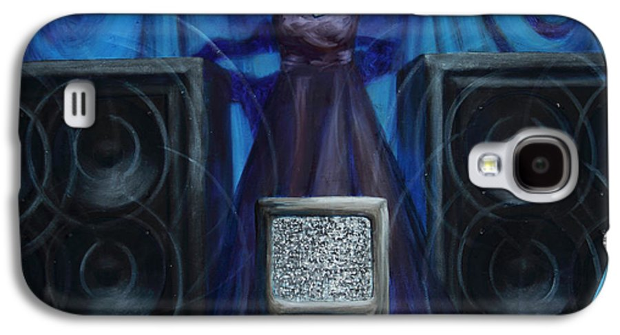 Shelley Irish Galaxy S4 Case featuring the painting The Silenced by Shelley Irish