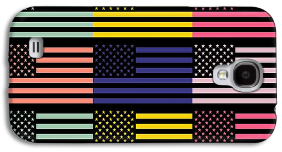 America Galaxy S4 Case featuring the mixed media The Star Flag by Tommytechno Sweden