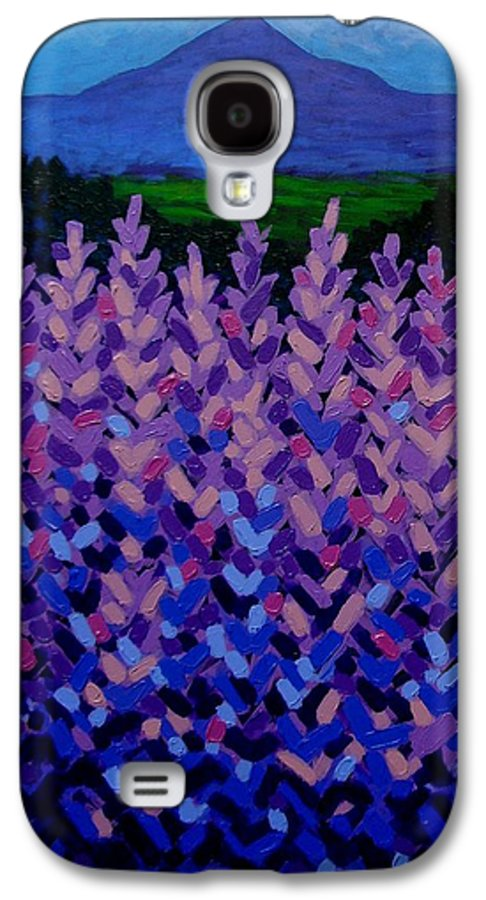 Lavender Galaxy S4 Case featuring the painting The Sugar Loaf - Wicklow - Ireland by John Nolan