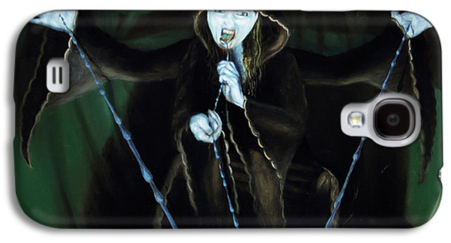 Shelley Irish Galaxy S4 Case featuring the painting The Taker by Shelley Irish