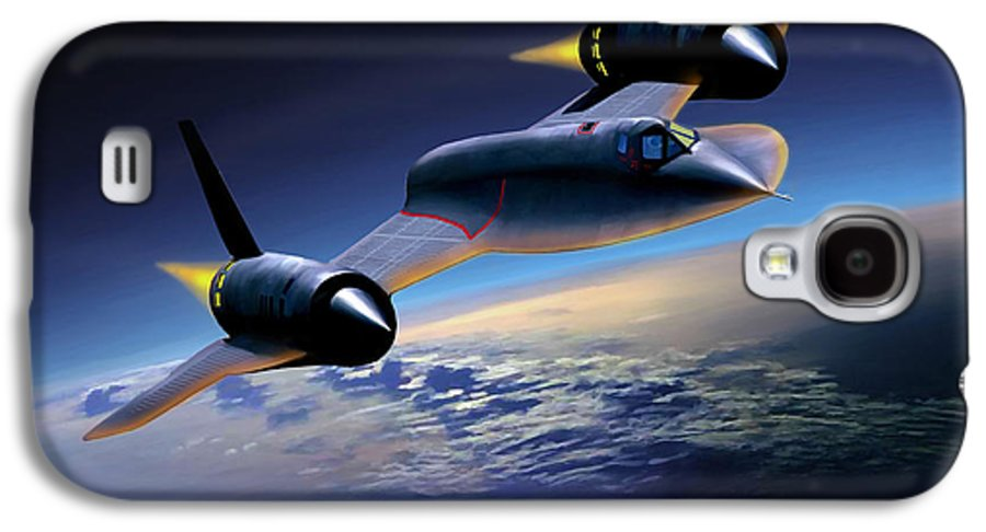 Airplane Galaxy S4 Case featuring the painting The Untouchable Sr-71 Blackbird by Mark Karvon