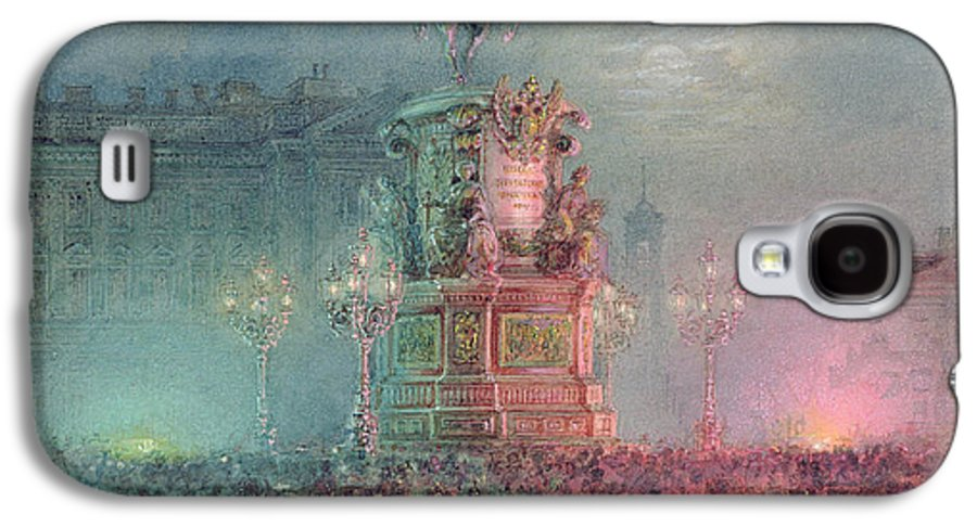 Tsar Nikolai Galaxy S4 Case featuring the painting The Unveiling Of The Nicholas I Memorial In St. Petersburg by Vasili Semenovich Sadovnikov