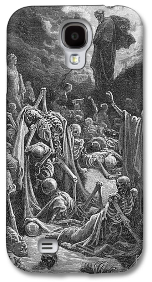 Prophet Galaxy S4 Case featuring the painting The Vision Of The Valley Of Dry Bones by Gustave Dore