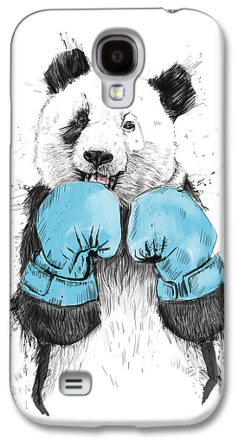 Panda Galaxy S4 Case featuring the drawing The Winner by Balazs Solti