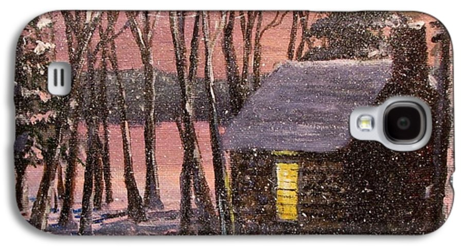 Thoreau's Cabin Galaxy S4 Case featuring the painting Thoreau's Cabin by Jack Skinner