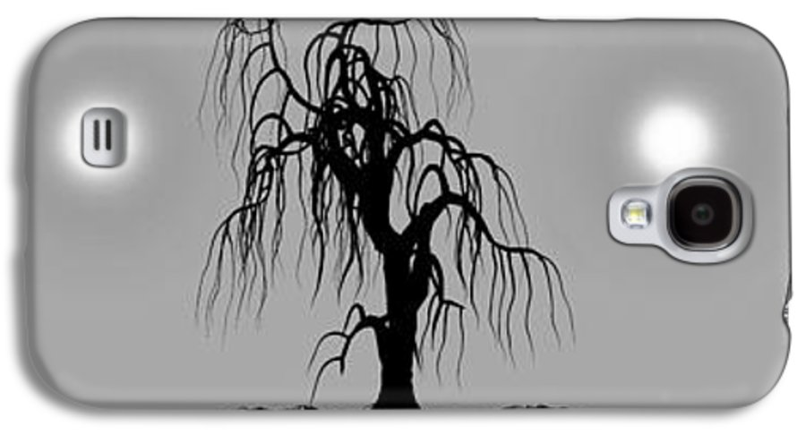 Landscape Galaxy S4 Case featuring the digital art Three Trees by Bob Orsillo