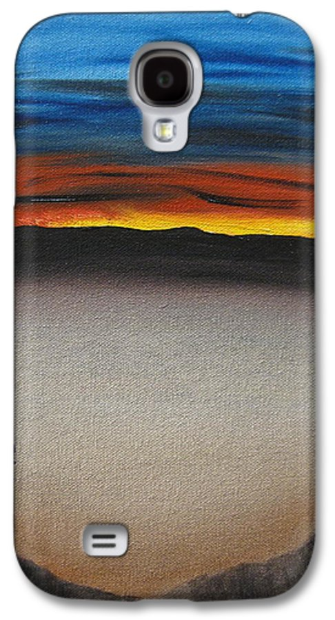 Desert Galaxy S4 Case featuring the painting Thriving In The Desert by Sayali Mahajan
