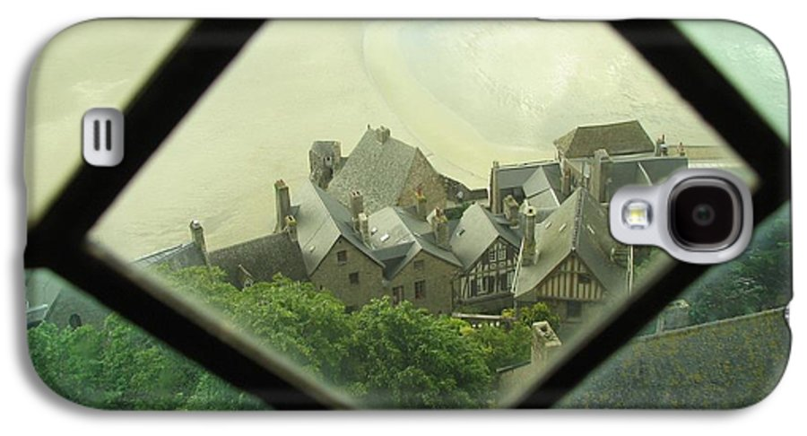Le Mont St-michel Galaxy S4 Case featuring the photograph Through A Window To The Past by Mary Ellen Mueller Legault