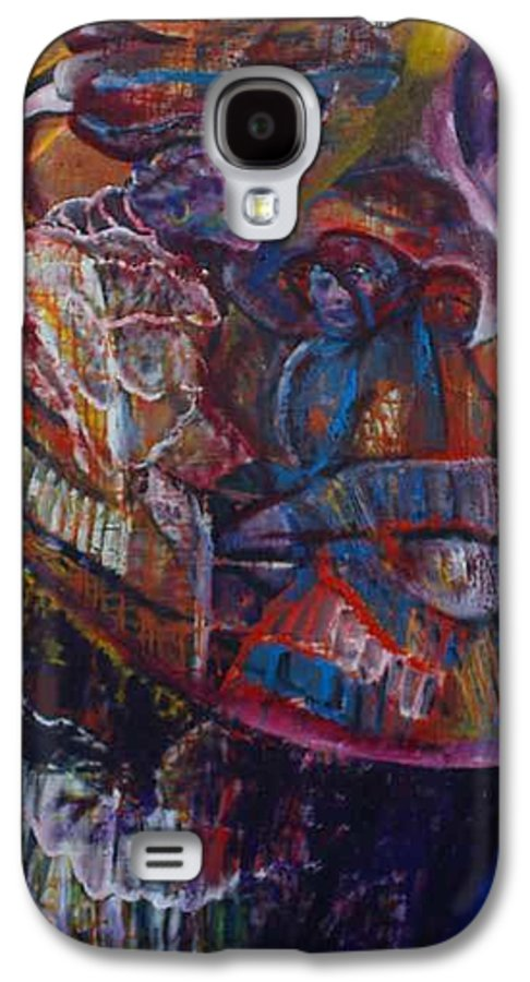 African Women Galaxy S4 Case featuring the painting Tikor Woman by Peggy Blood
