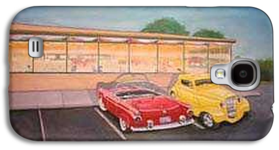 Rick Huotari Galaxy S4 Case featuring the painting Times Past Diner by Rick Huotari