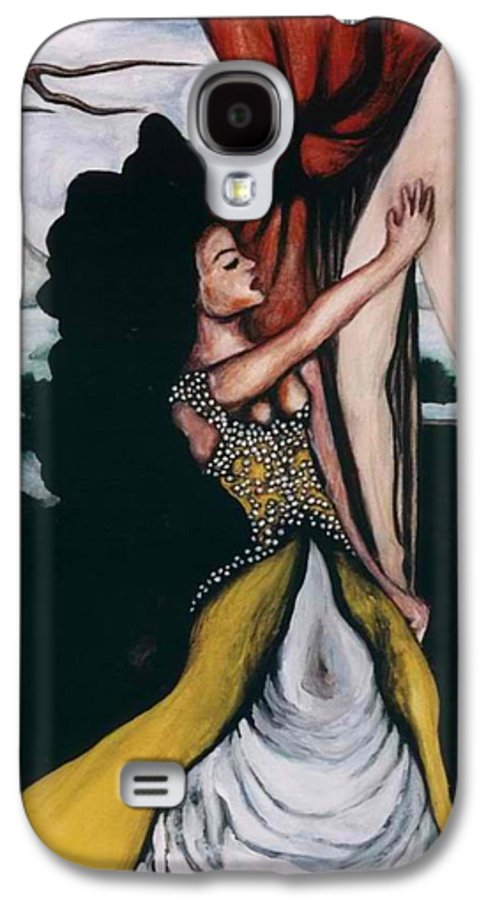 To Have And To Hold Galaxy S4 Case featuring the painting To Have And To Hold  Mourning The Loss Of A Lover by Ayka Yasis