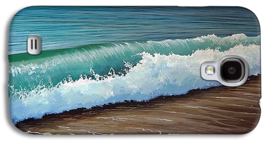 Wave On A Florida Beach Galaxy S4 Case featuring the painting To The Shore by Hunter Jay