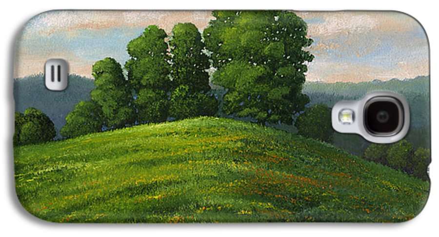 Landscape Galaxy S4 Case featuring the painting Toboggan Hill by Frank Wilson