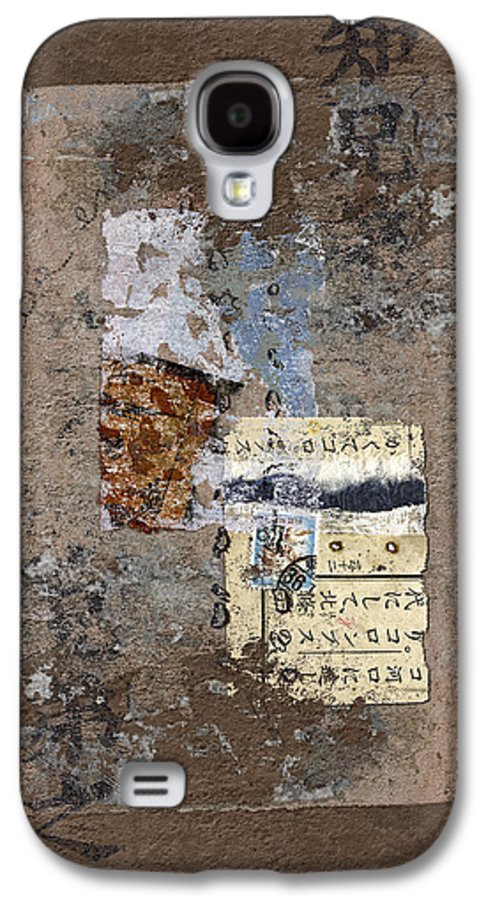 Torn Galaxy S4 Case featuring the photograph Torn Papers On Wall by Carol Leigh