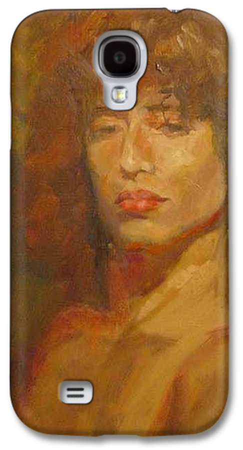 Portrait Galaxy S4 Case featuring the painting Tracy by Irena Jablonski