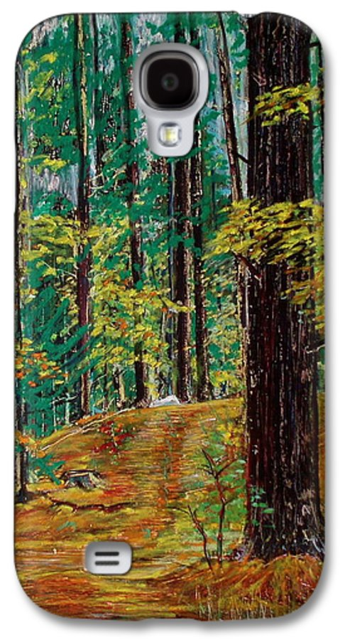 New Hampshire Galaxy S4 Case featuring the pastel Trail At Wason Pond by Sean Connolly